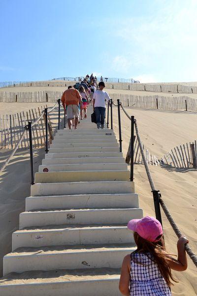 Les escaliers de la dune du pilat